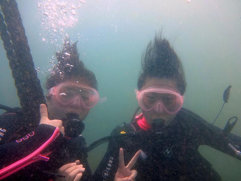 うねりが…(>_<) ヒリゾ浜体験ダイビング@アカデミー