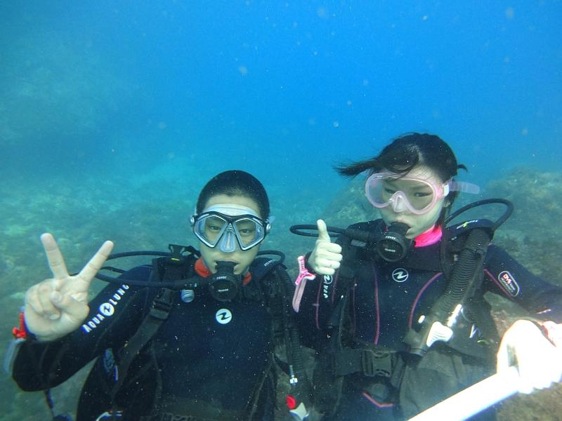 タカベがキラキラ~ヒリゾ浜体験ダイビング@アカデミー