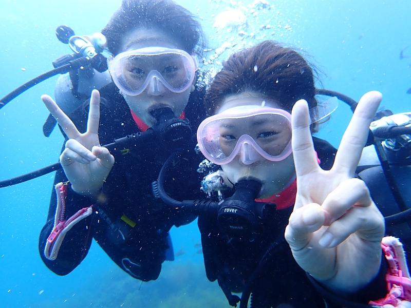 貸切のヒリゾ浜で体験ダイビング!@アカデミー