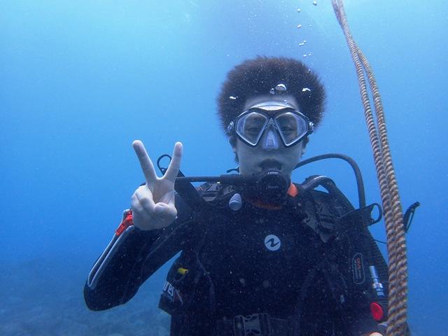 ヒリゾ浜で体験ダイビング