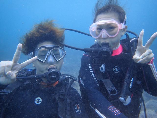 水中の方が暖かい!ヒリゾ浜体験ダイビング@アカデミー