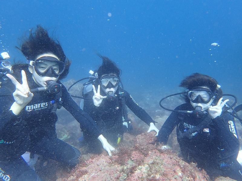 今シーズン最後のヒリゾ浜体験ダイビング!!!@アカデミー