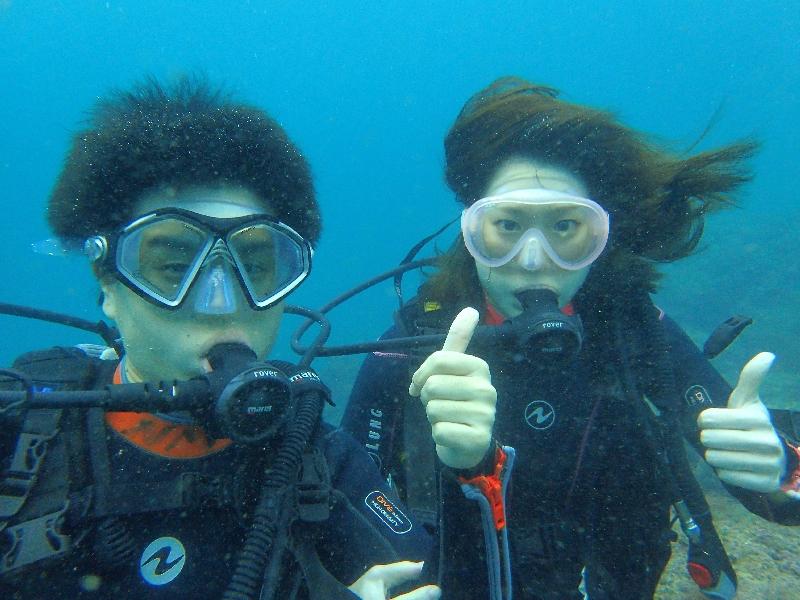 今日の体験ダイビング