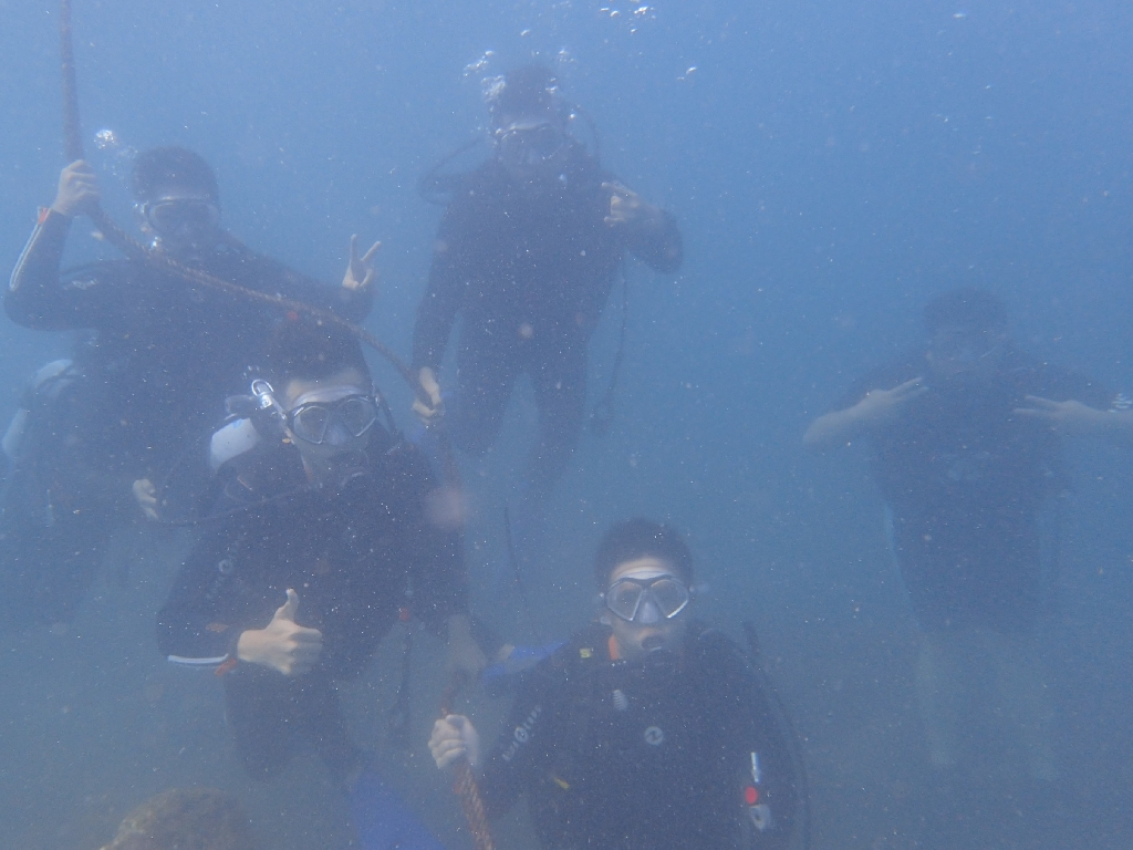 濁りはあってもお魚たくさん♪ヒリゾ浜体験ダイビング@アカデミー