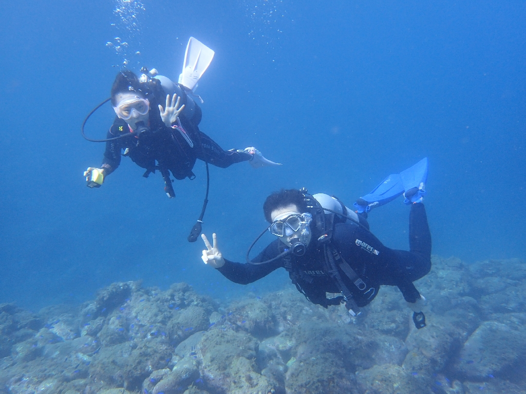 気持ちいいダイビングでした♪ヒリゾ浜体験ダイビング@アカデミー