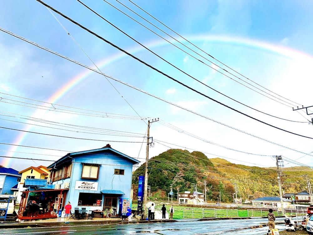 虹を見るといい事があるらしい..!@神子元