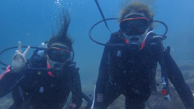 透明度抜群のヒリゾ浜ダイビング!