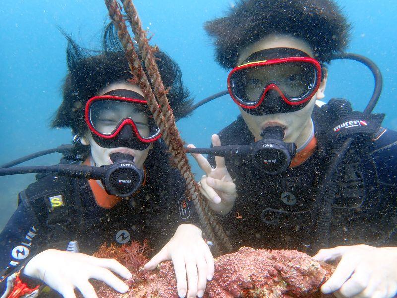 カンパチいっぱい!ヒリゾ浜体験ダイビング@アカデミー