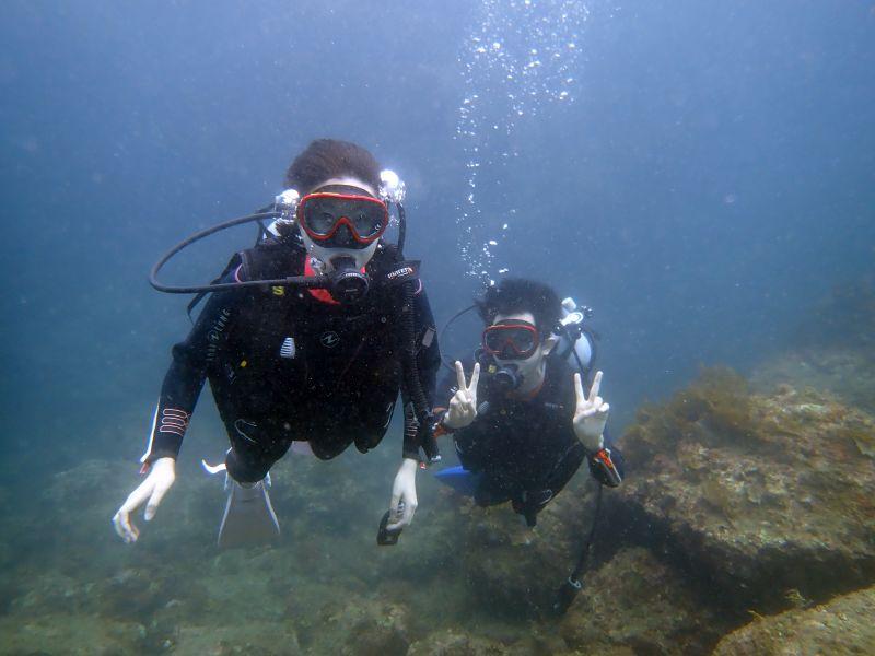 お魚群れ群れ!ヒリゾ浜体験ダイビング