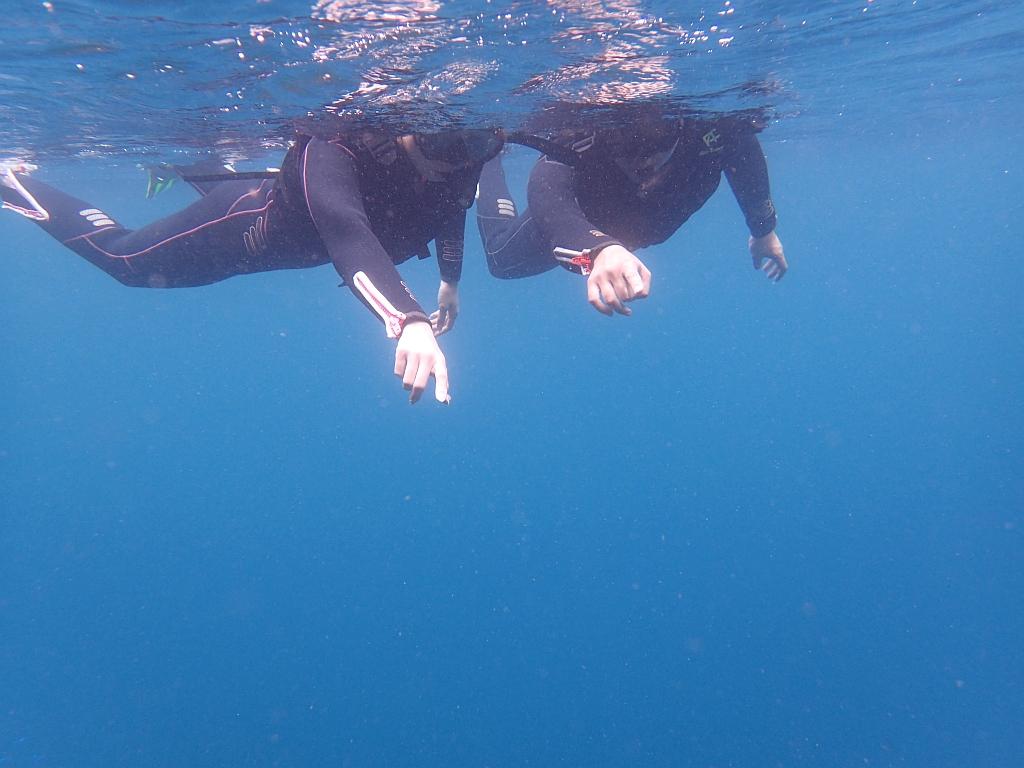 体験ダイビングとスノーケリングでヒリゾ浜満喫~@アカデミー
