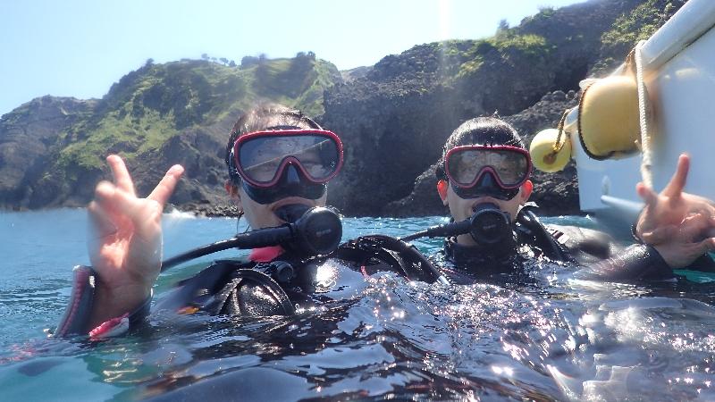 ウネリなんか関係ない!ヒリゾ浜体験ダイビング